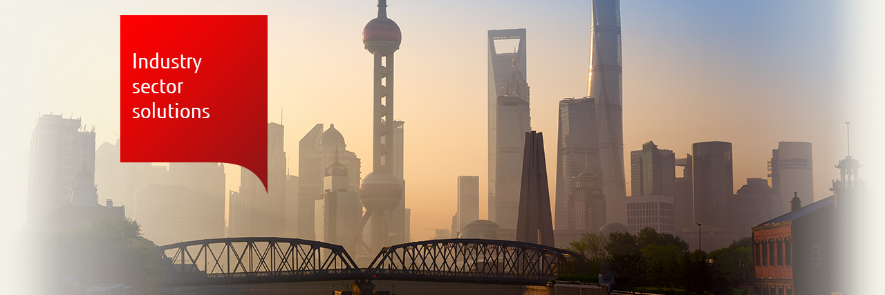 Photo of Shanghai skyline: Industry sector Solutions