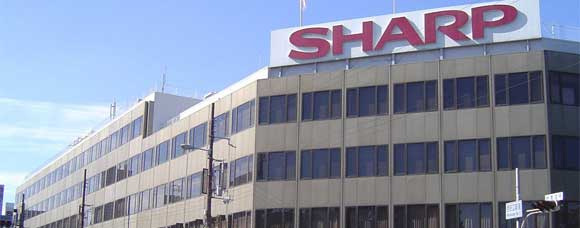 SHARP sign on office building