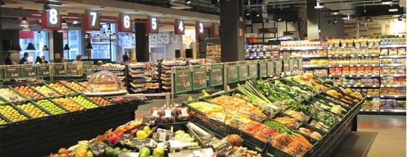 Produce in an EDEKA store