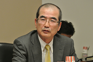 Picture: Yoshiki Kondo, Corporate Vice President and President, Business Management Operations Group