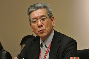 Picture: Akio Uekuri, Head of Corporate Affairs & Human Resources Unit