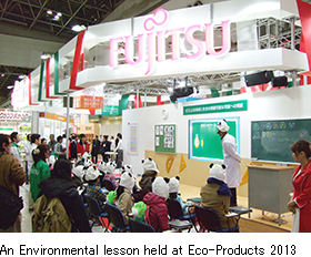 An Environmental lesson held at Eco-products 2013