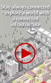 Stay always connected - explore a world with a connected infrastructure