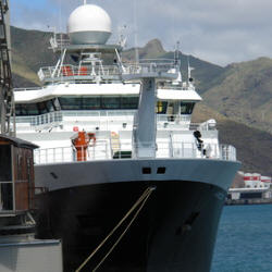Photograph of a research vessel