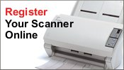 Register your Fujitsu scanner online