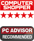 Computer Shopper Five stars + PC Advisor Recommended