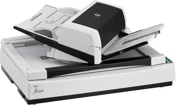 fi-6750S features a flatbed for scanning material such as books...