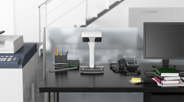 ScanSnap SV600 with small footprint on desk