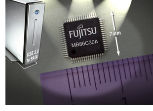 Fujitsu's USB 3.0 to SATA bridge IC, MB86C30A