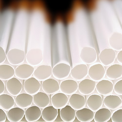 Photograph of a stack of empty cigarette papers