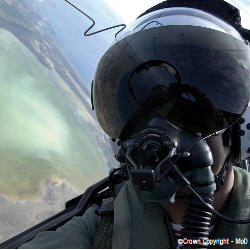 Photograph of a military jet pilot