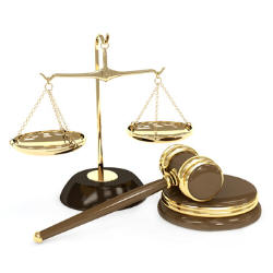 Photo of scales and gavel