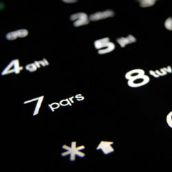 Illustration of telephone keypad numbers
