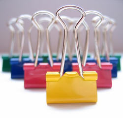 Photograph of paperclips