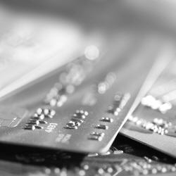 Photograph of credit cards