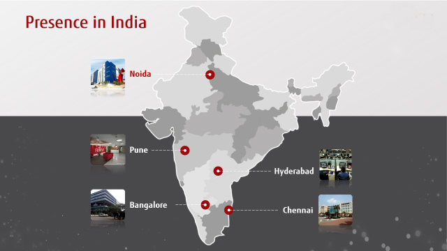 Fujitsu offices in India