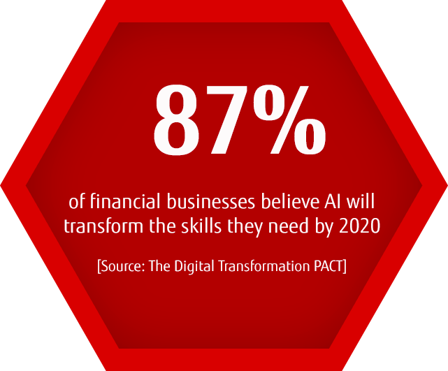 87% of financial businesses believe AI will transform the skills they need by 2020