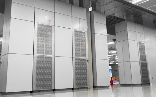 図3. 完成したクリーンルーム内のSWIT空調システム