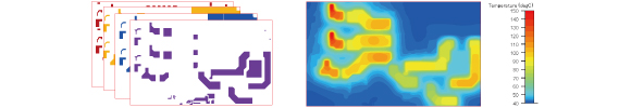 Perform joule heat analysis with precise trace pattern modeling based on the real designs