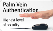 Palm Vein Authentication. Highest level of security.