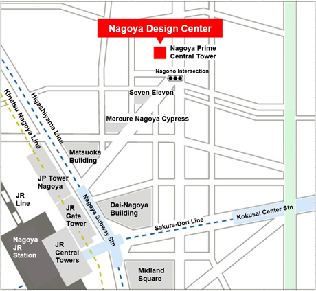 Nagoya Prime Central Tower  Map