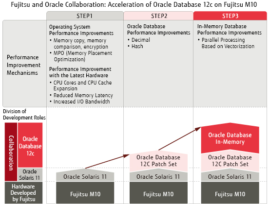 Activities between Fujitsu and Oracle about acceleration of Fujitsu M10 and Oracle Database 12c