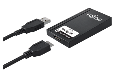 USB to UHD DP Adapter - adapter with cable