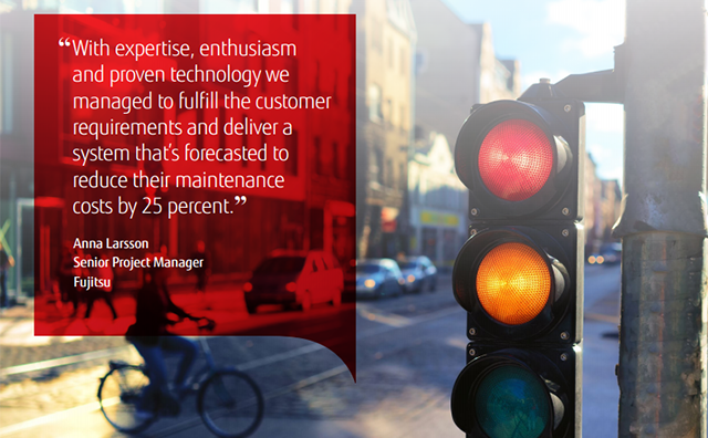 """With expertise, enthusiasm and proven technology we managed to fulfil the customer requirements and deliver a system that's forecasted to reduce their maintenance costs by 25 per cent."" Anna Larsson, Fujitsu."