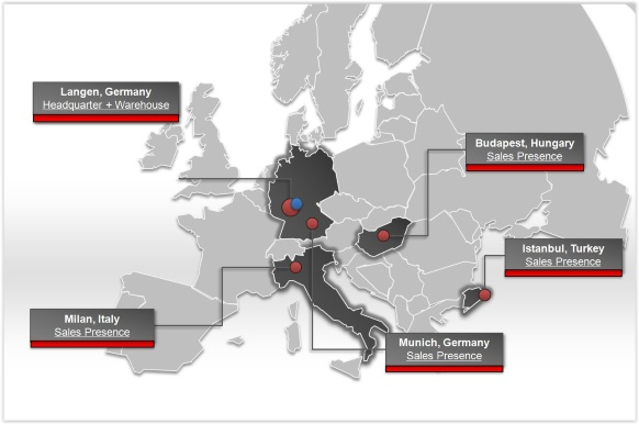 FSEU operations in Europe map