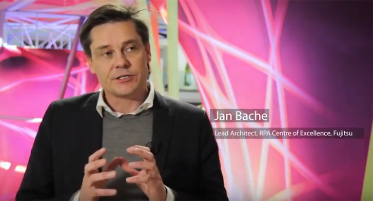 Video still: Jan Bache talks about process automation in financial services