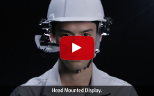 Fujitsu Head Mounted Display video
