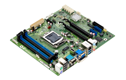 Mainboard D3222 - side view