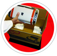 Advance Exchange shipping carton