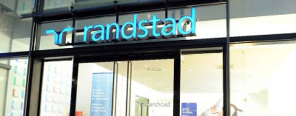 Randstad shop sign