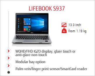 FUJITSU Notebook LIFEBOOK S937 - Fujitsu Romania