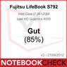 Notebookcheck.com, рейтинг «Хороший» (85%), Fujitsu LIFEBOOK S792, Германия, 1 октября 2012 г.