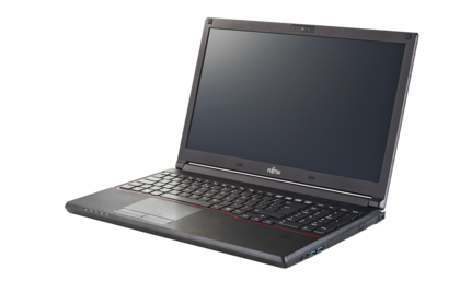 LIFEBOOK E554 - left side, with reflection