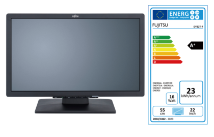 FUJITSU Display E22T-7 Pro with EEC label