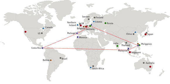 Providing all the support you need fujitsu sweden map of the world showing information in below list sciox Choice Image