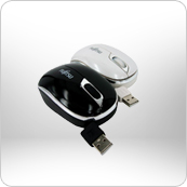 Retractable Mouse (B/W)