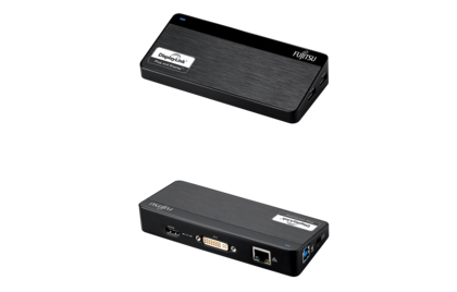 USB Port Replicator PR7.1 - front and rear view