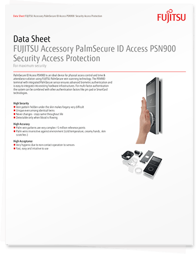 PalmSecure ID Access PSN900 Data Sheet
