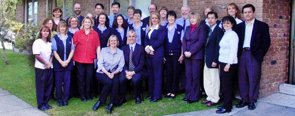 Group photo of the Parkmore Medical Centre staff