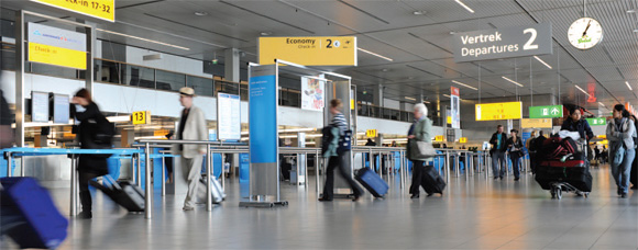 Inside view of the Shiphol Airport