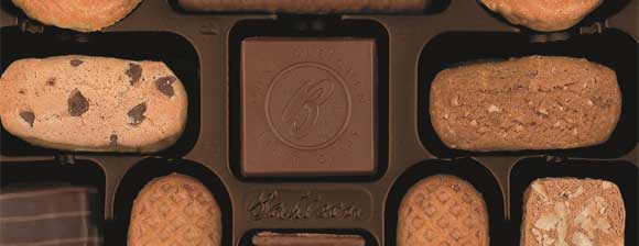 A selection of Bahlsen biscuits