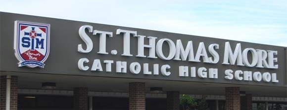 St Thomas More Catholic High School Sign