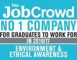 The Job Crowd. No 1 Company for graduates to work for in 2016 /17 Environmental & Ethical Awareness