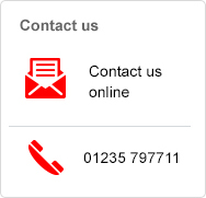 Contact us online or call 01235 797711