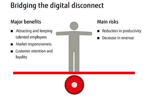 Bridging the digital disconnect - benefits and risks from the report