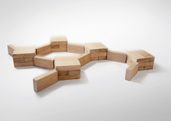 Wooden Domino sized blocks linked together